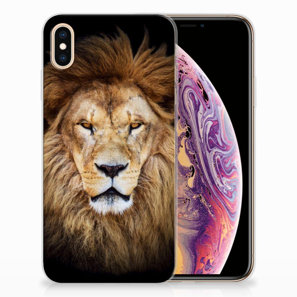 Apple iPhone Xs Max TPU Hoesje Design Leeuw