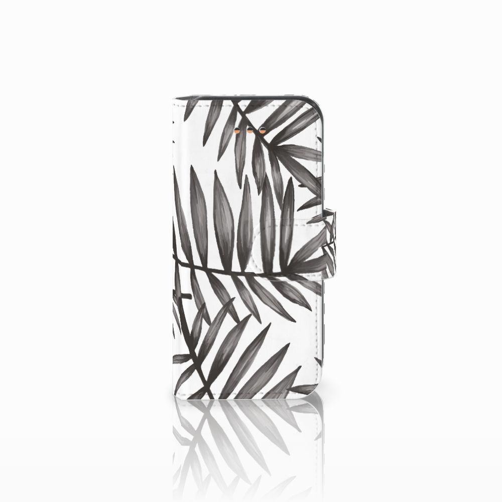 Apple iPhone 5C Uniek Boekhoesje Leaves Grey
