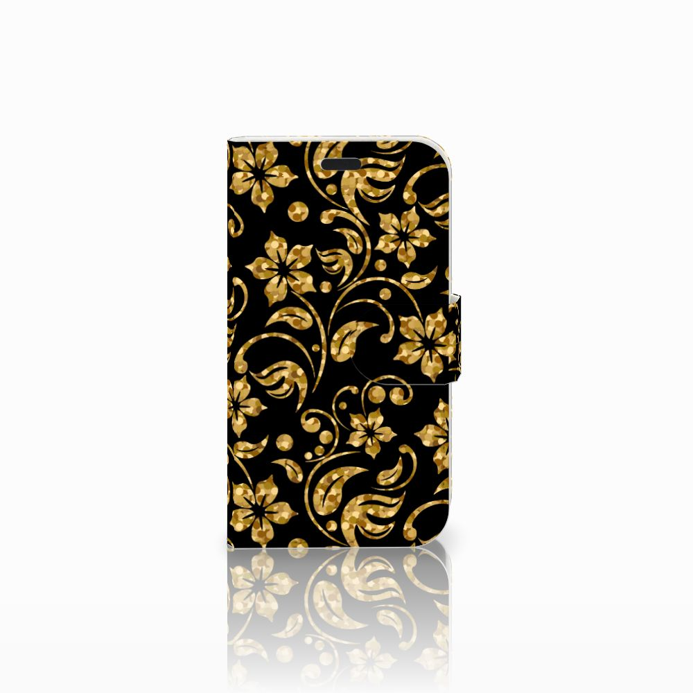 LG L Fino Boekhoesje Design Gouden Bloemen