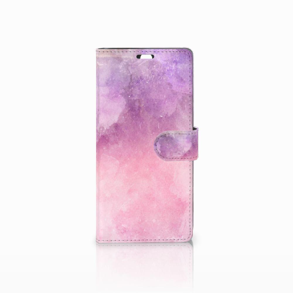 Sony Xperia C5 Ultra Boekhoesje Design Pink Purple Paint