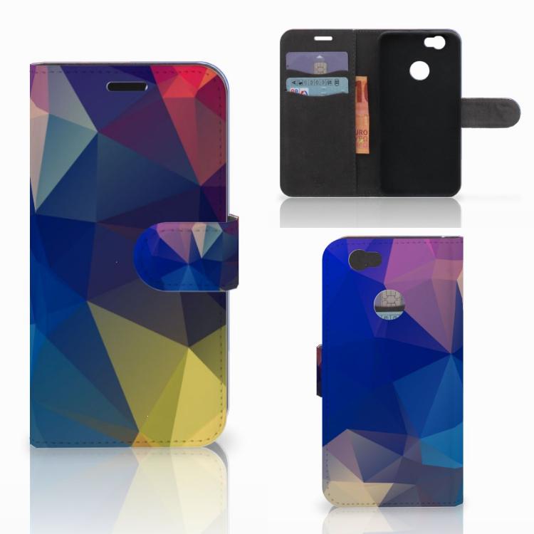 Huawei Nova Bookcase Polygon Dark