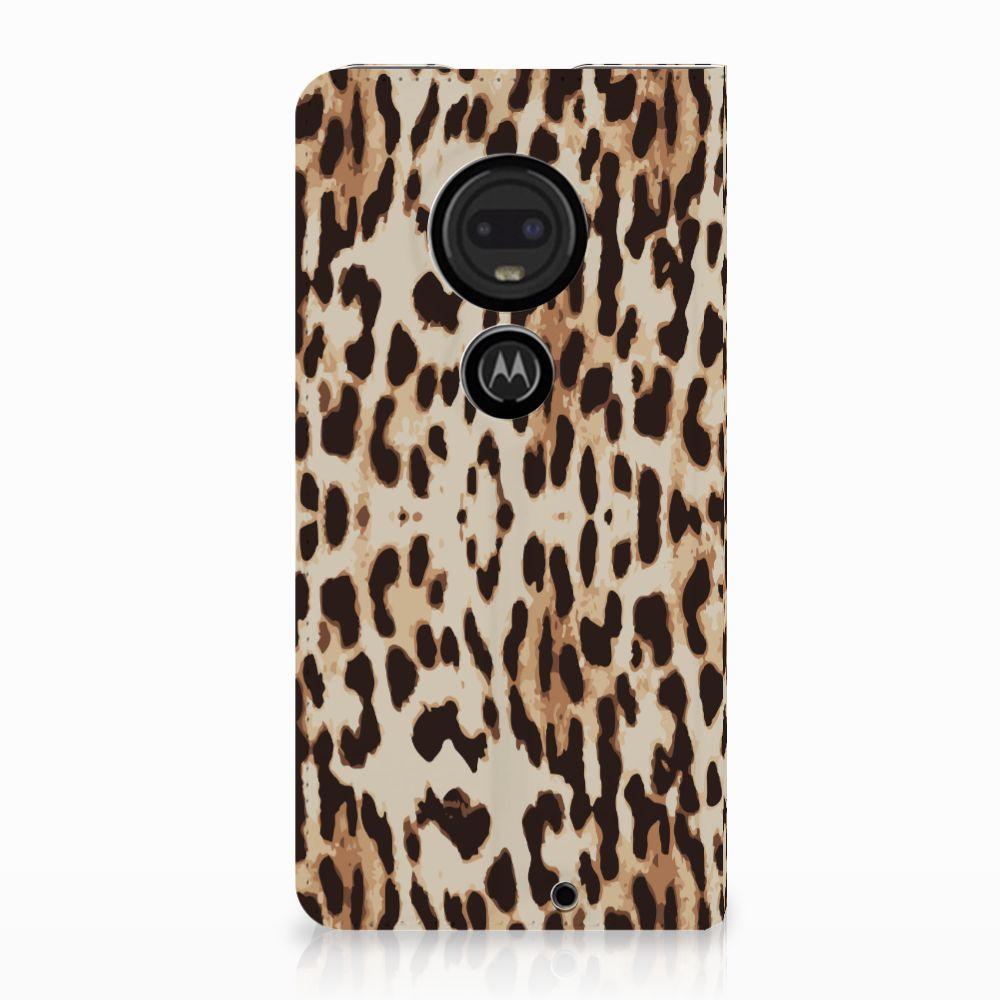 Motorola Moto G7 | G7 Plus Uniek Standcase Hoesje Leopard