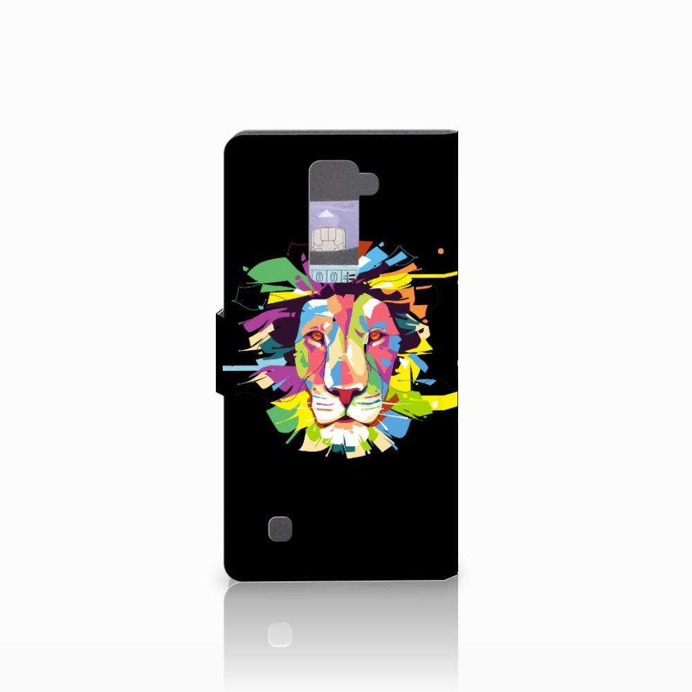 LG K10 2015 Leuke Hoesje Lion Color
