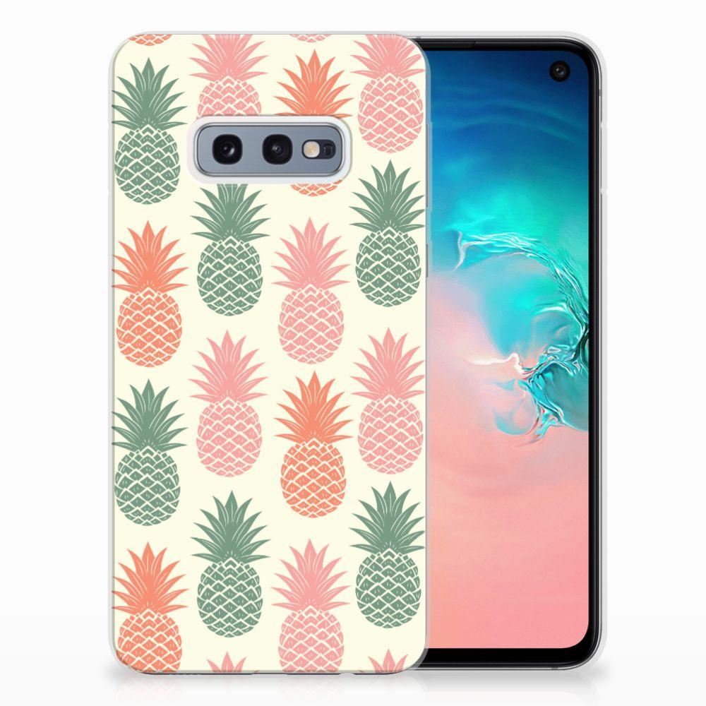 Samsung Galaxy S10e TPU Hoesje Design Ananas