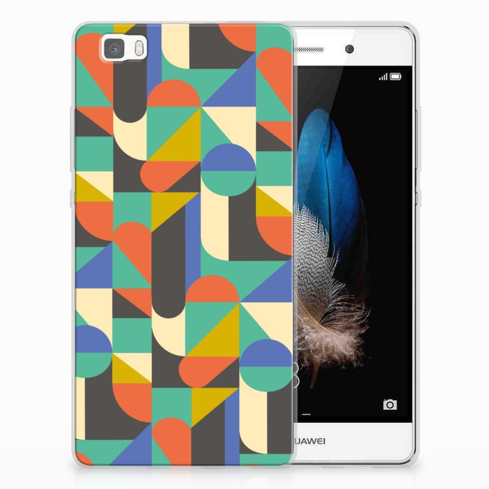 Huawei Ascend P8 Lite Uniek TPU Hoesje Funky Retro