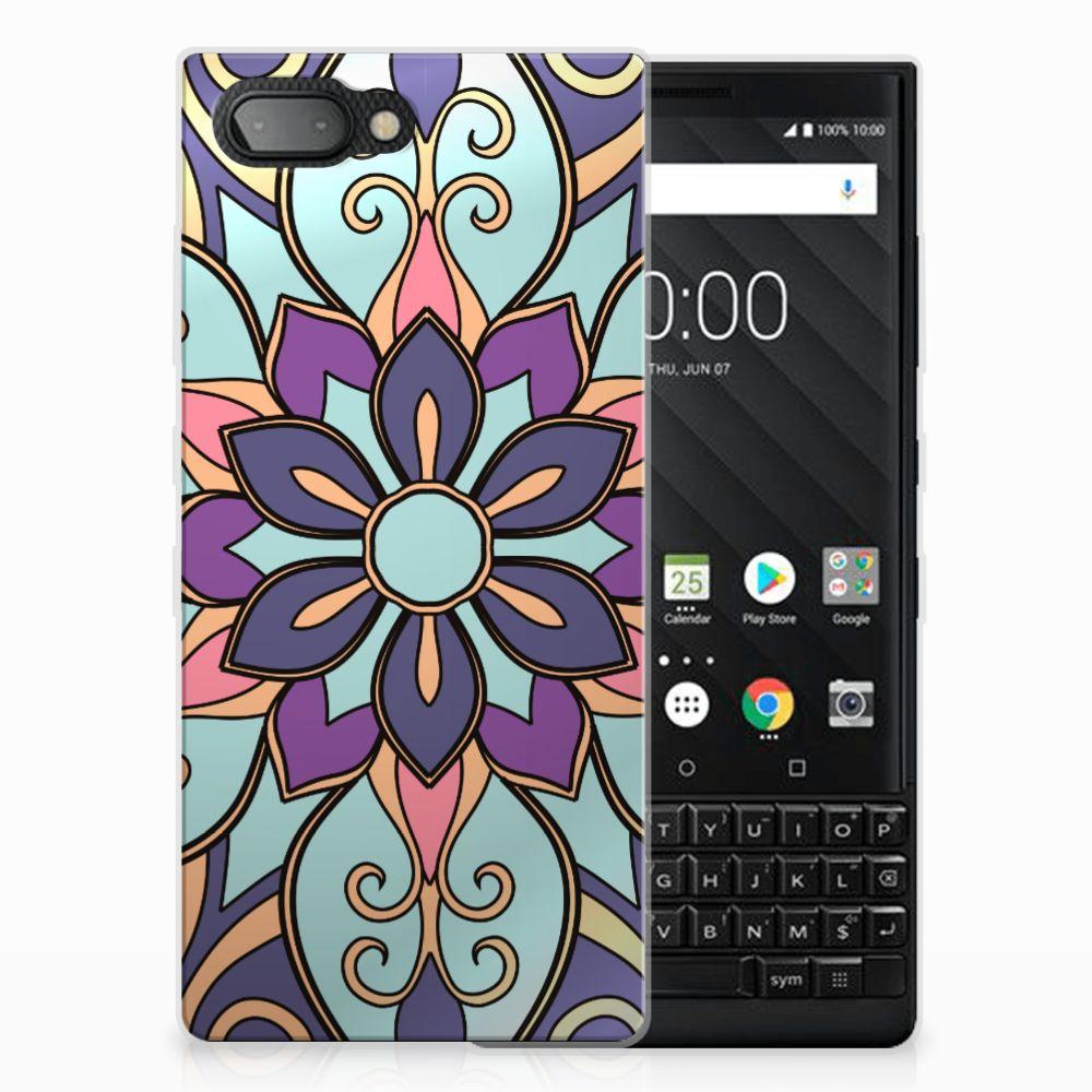 BlackBerry Key2 TPU Hoesje Design Purple Flower