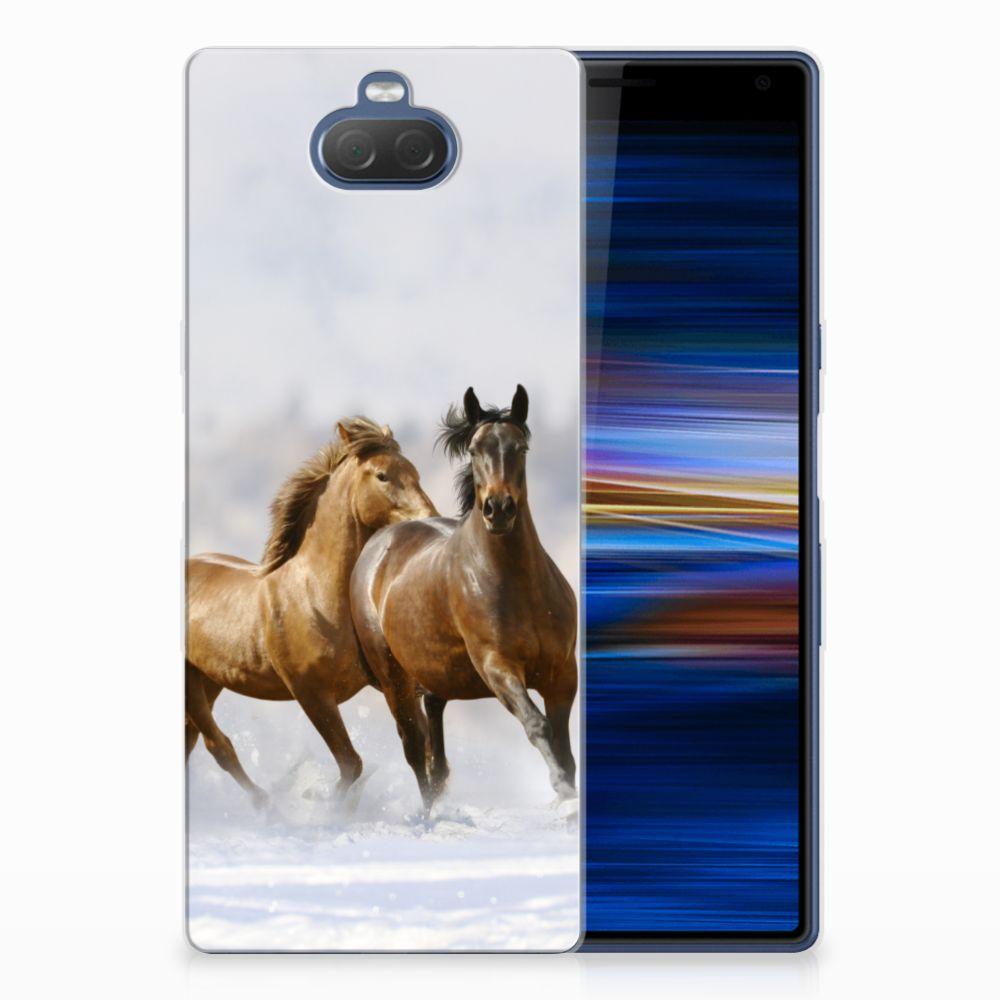 Sony Xperia 10 Plus Uniek TPU Hoesje Paarden