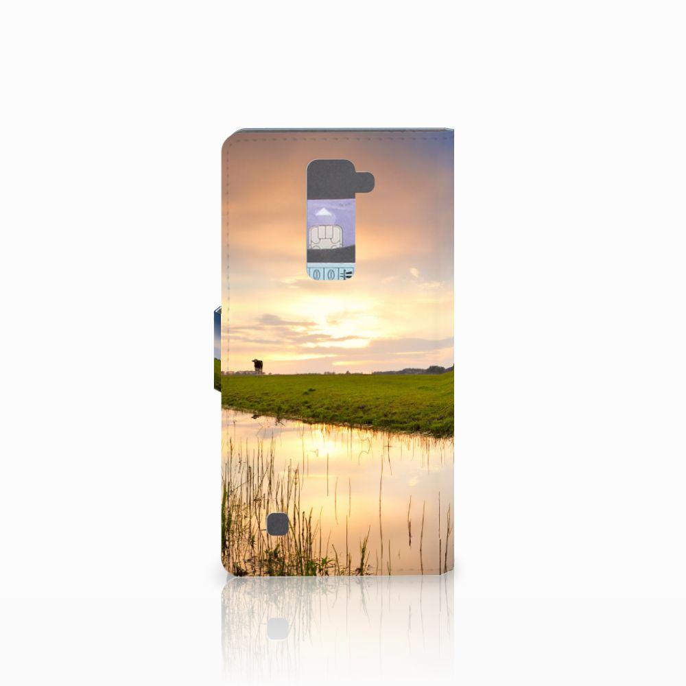 LG K10 2015 Telefoonhoesje met Pasjes Koe
