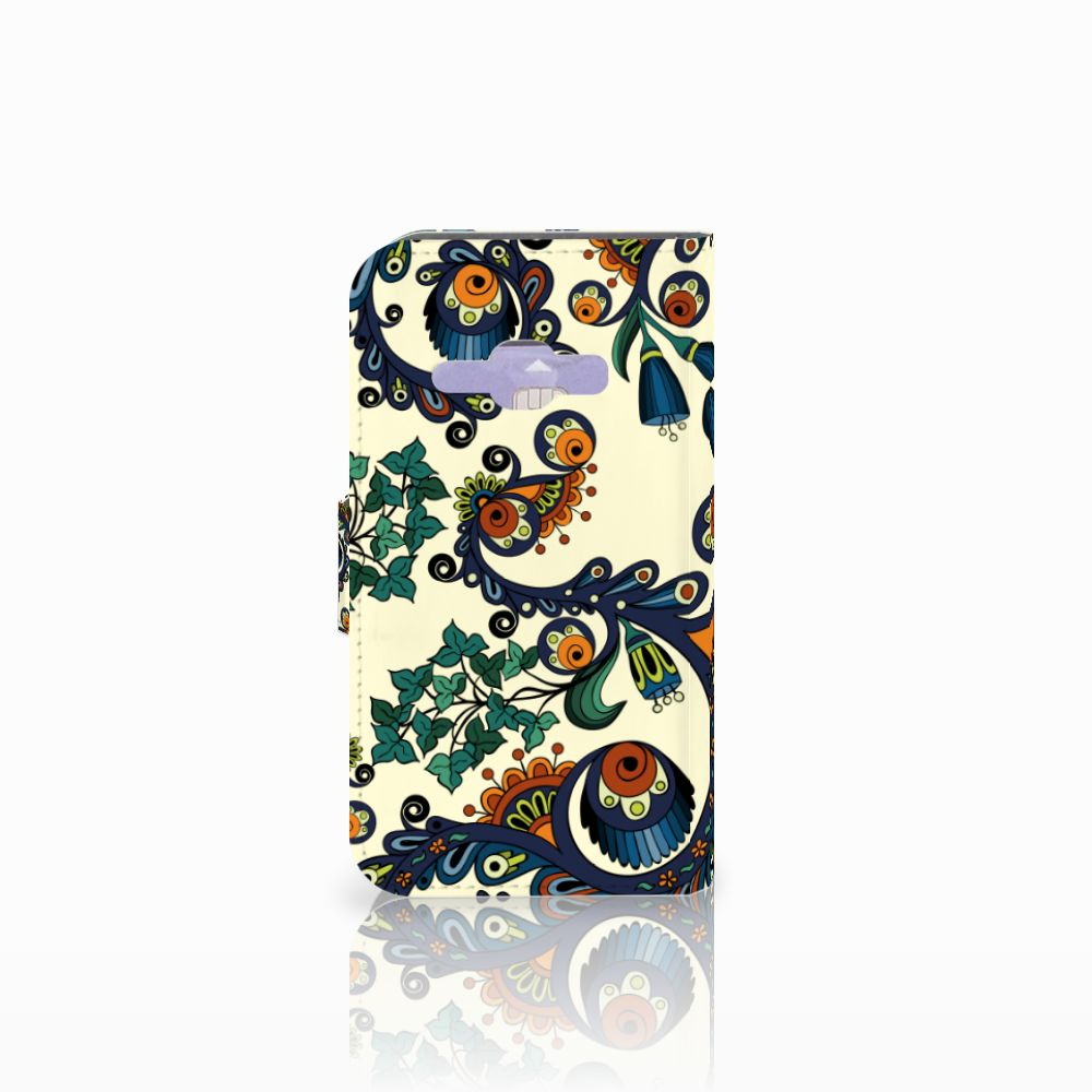 Wallet Case Samsung Galaxy J1 2016 Barok Flower