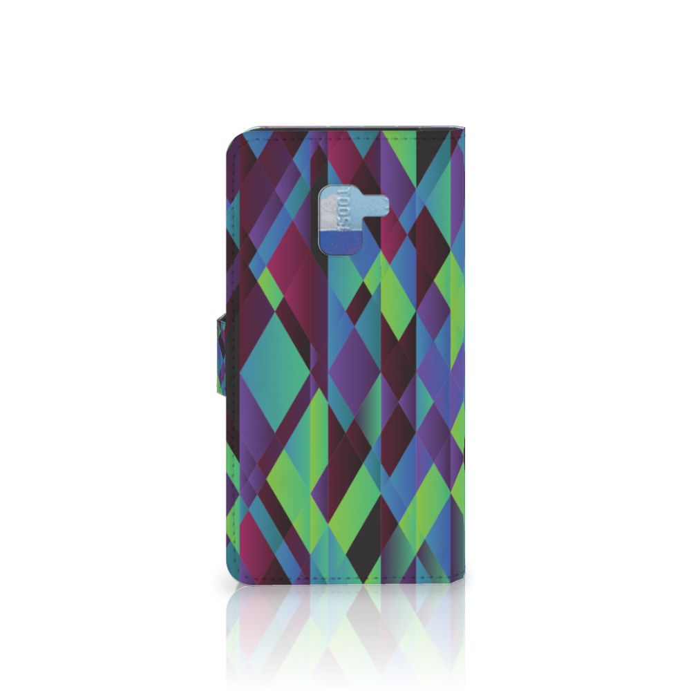 Samsung Galaxy A8 Plus (2018) Bookcase Abstract Green Blue