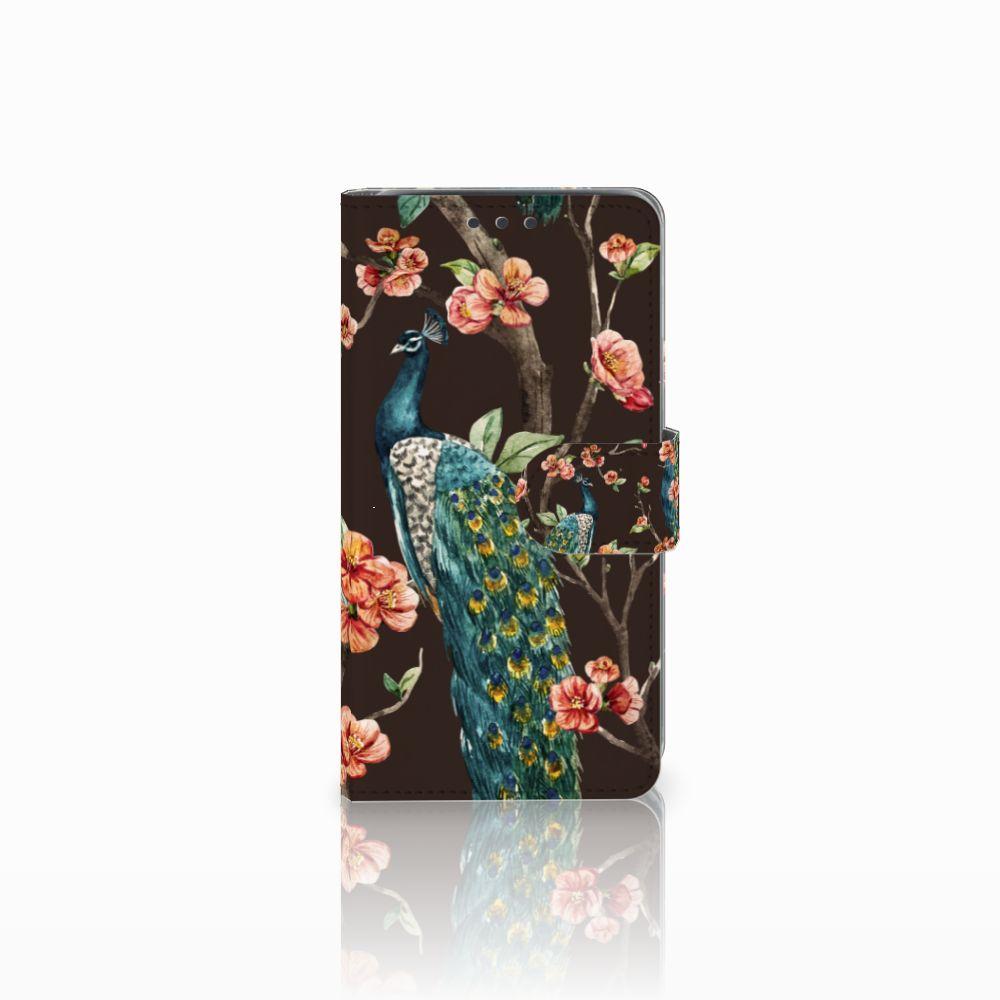 Samsung Galaxy J5 (2015) Boekhoesje Design Pauw met Bloemen