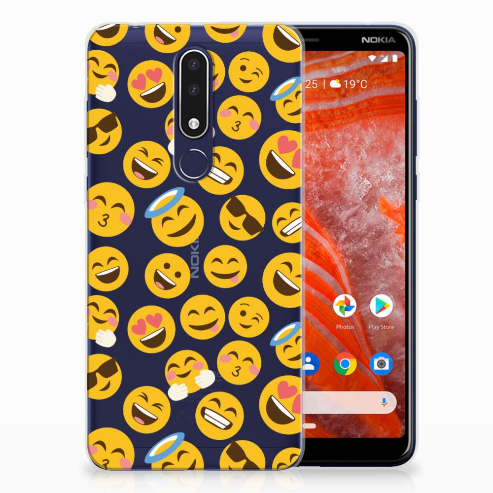 Nokia 3.1 Plus TPU Hoesje Design Emoji