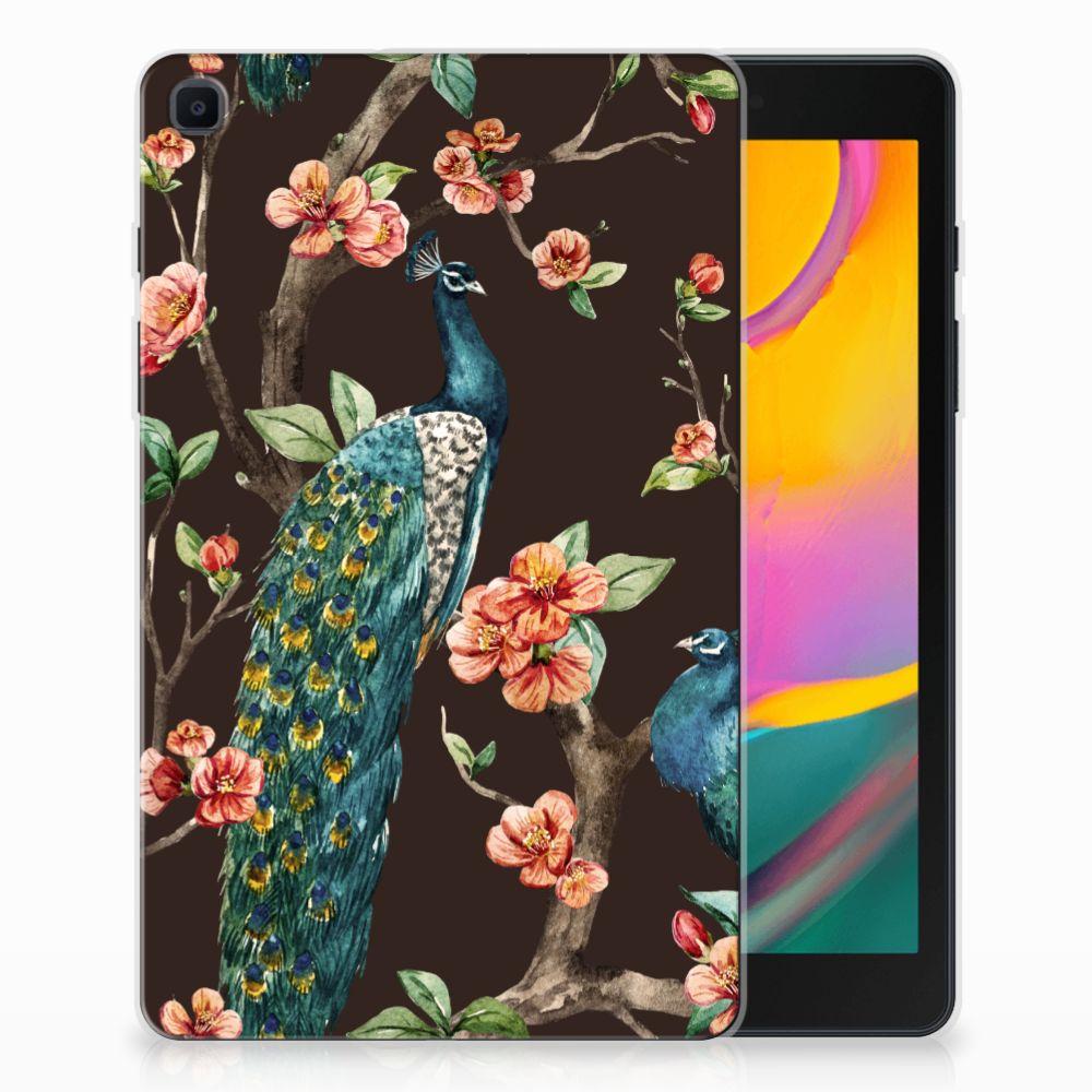 Samsung Galaxy Tab A 8.0 (2019) Back Case Pauw met Bloemen