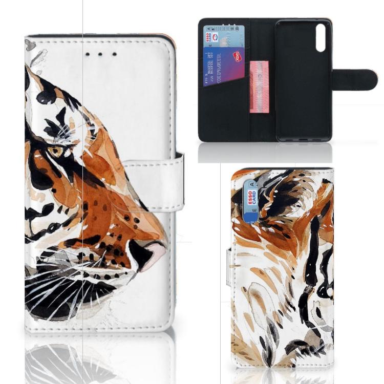 Hoesje Huawei P20 Watercolor Tiger