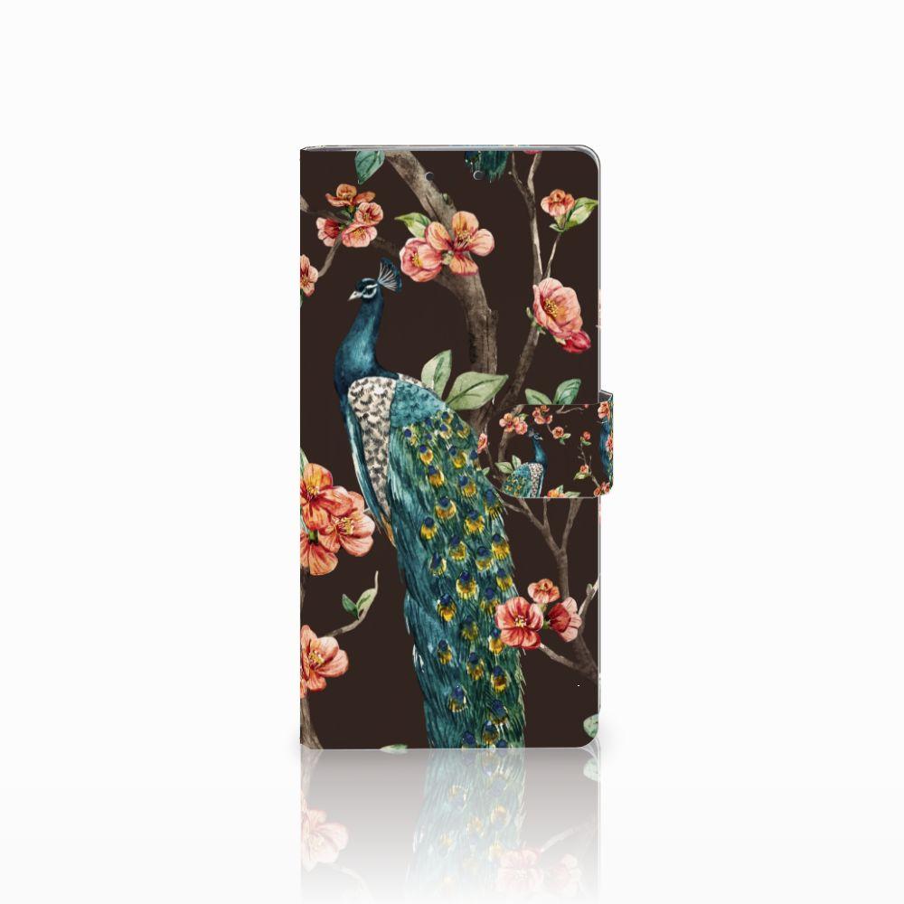 HTC U Ultra Boekhoesje Design Pauw met Bloemen
