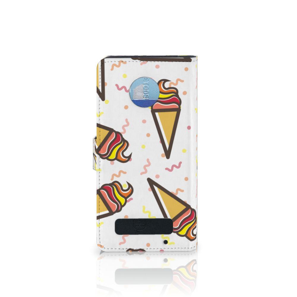 Motorola Moto Z Play Book Cover Icecream