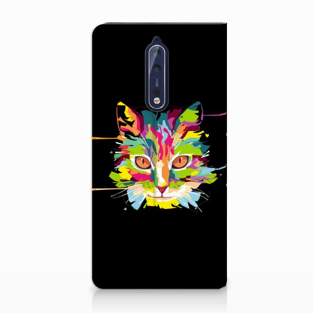 Nokia 8 Uniek Standcase Hoesje Cat Color