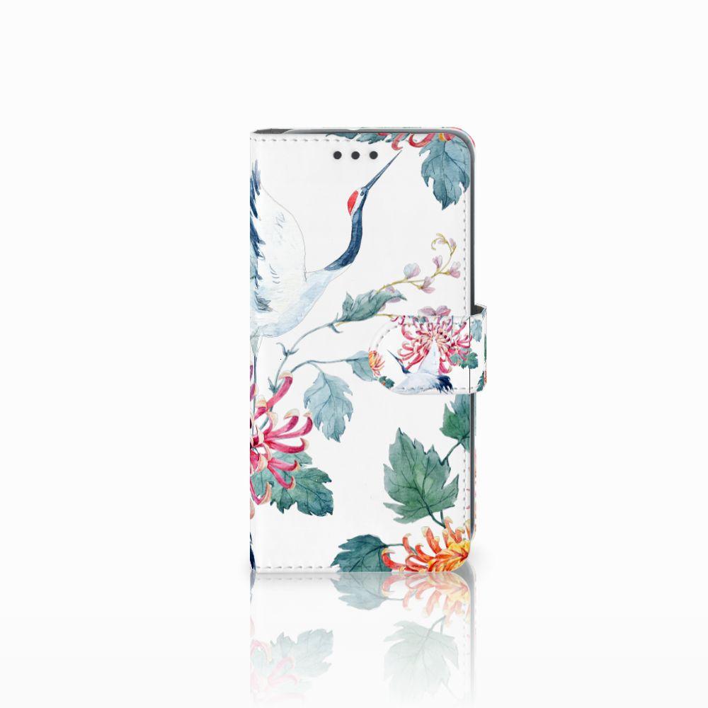 HTC U11 Life Uniek Boekhoesje Bird Flowers