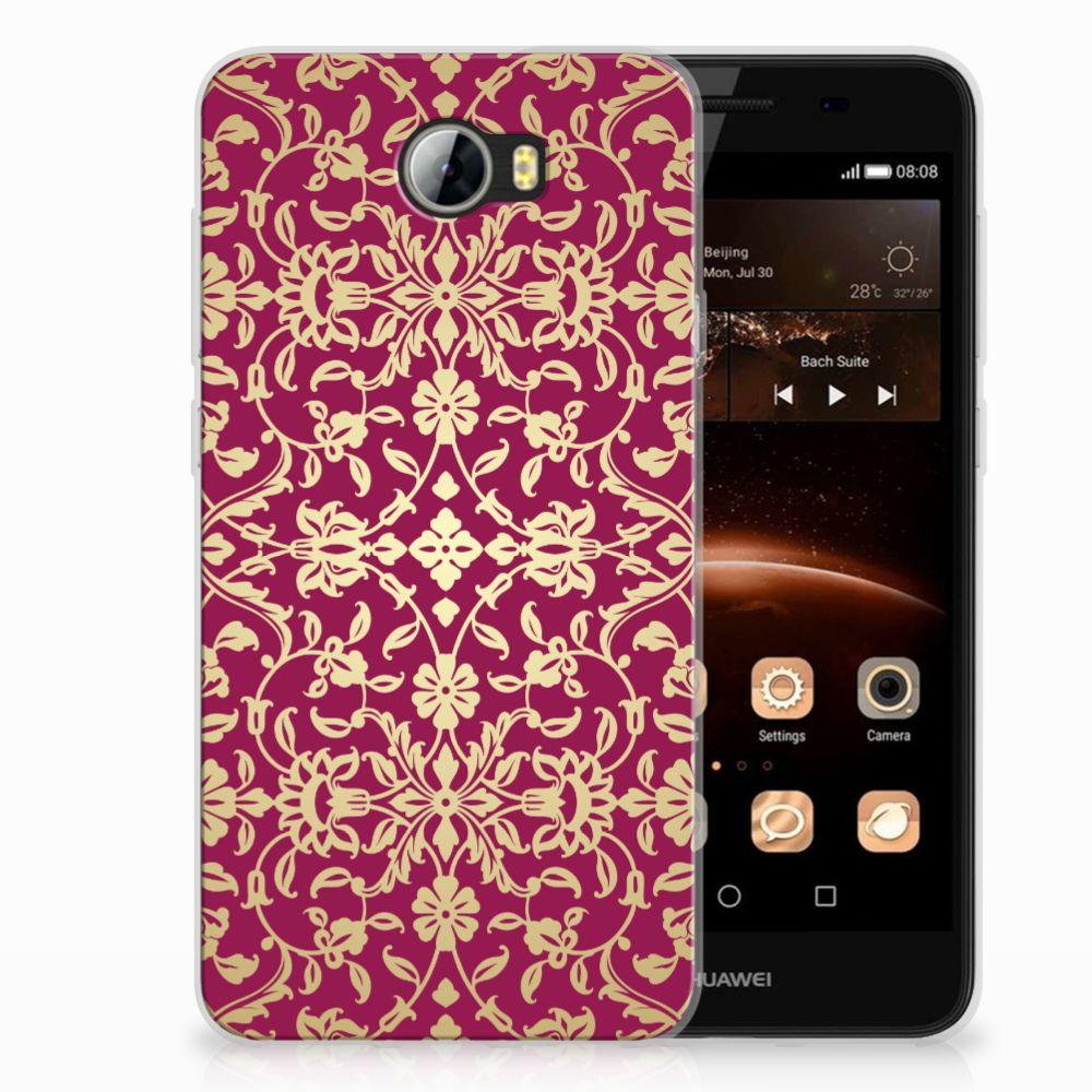 Siliconen Hoesje Huawai Y5 II | Y6 II Compact Barok Pink