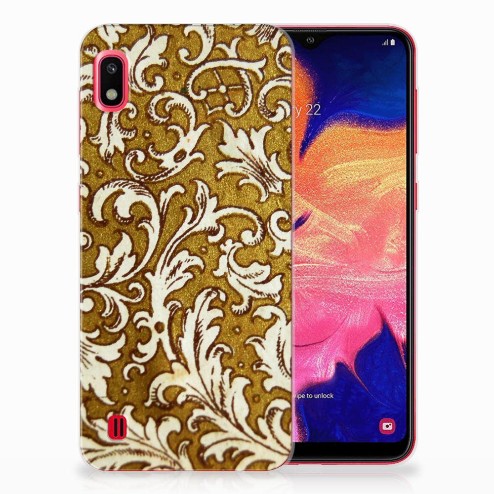 Siliconen Hoesje Samsung Galaxy A10 Barok Goud