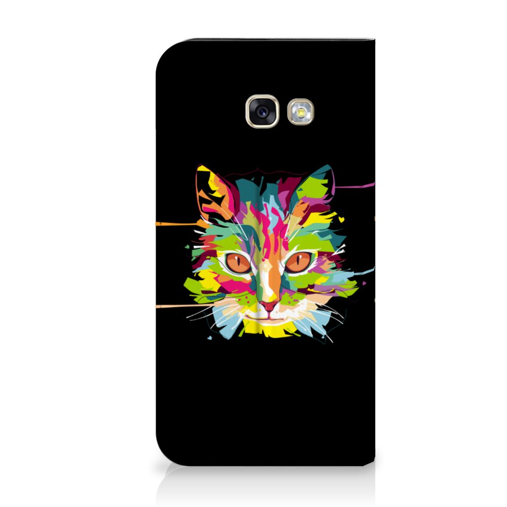 Samsung Galaxy A5 2017 Uniek Standcase Hoesje Cat Color