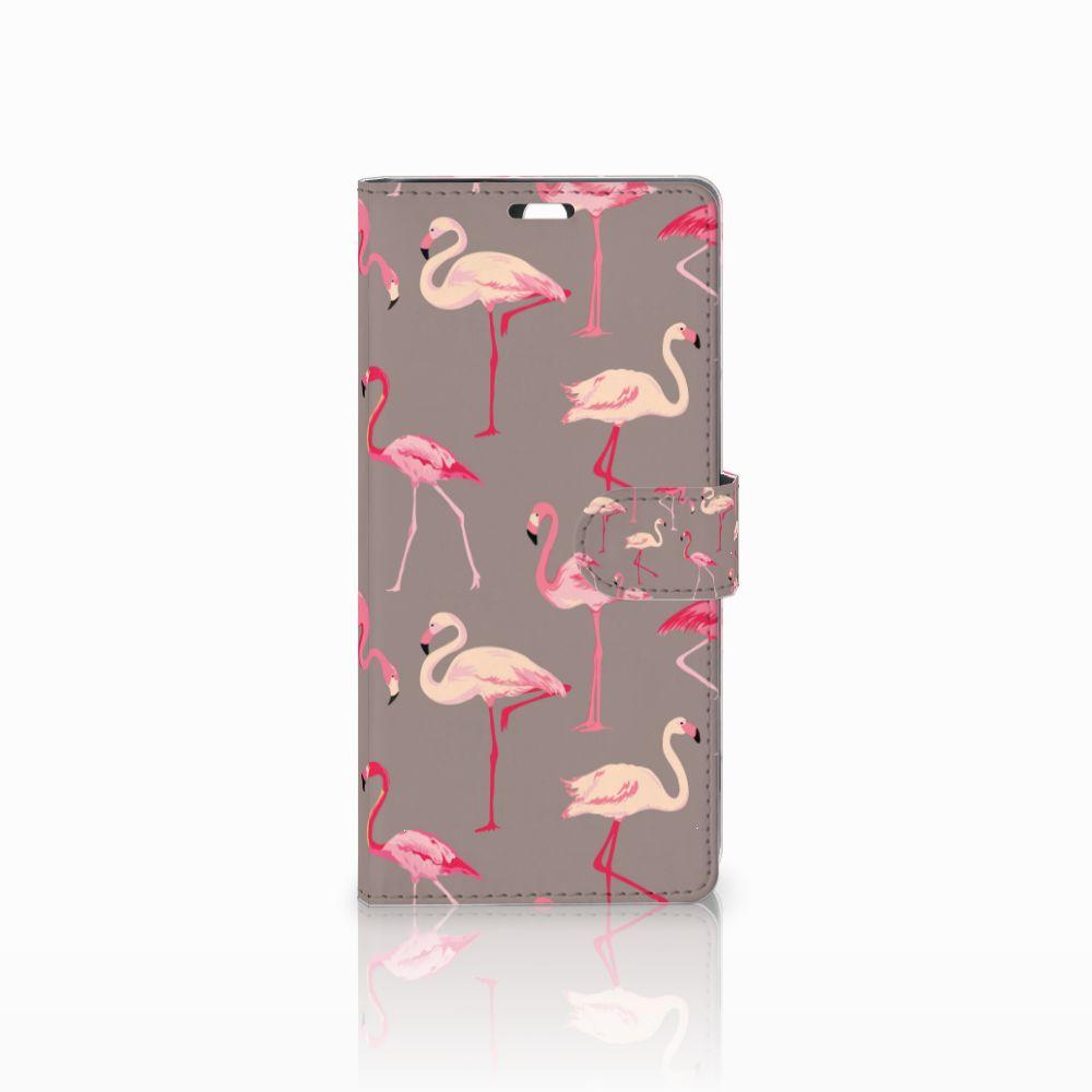 Sony Xperia C5 Ultra Uniek Boekhoesje Flamingo