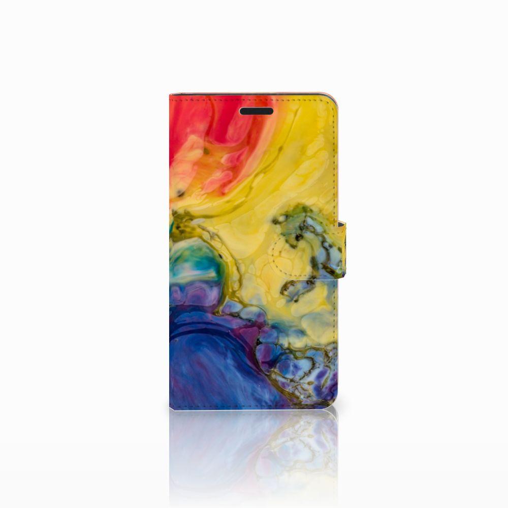Sony Xperia T3 Uniek Boekhoesje Watercolor Dark