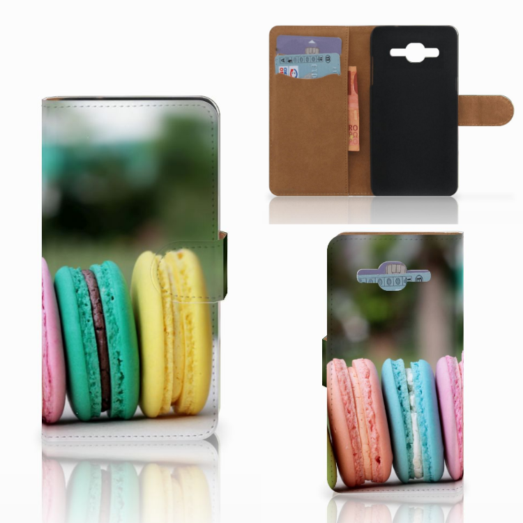 Samsung Galaxy J2 2016 Book Cover Macarons