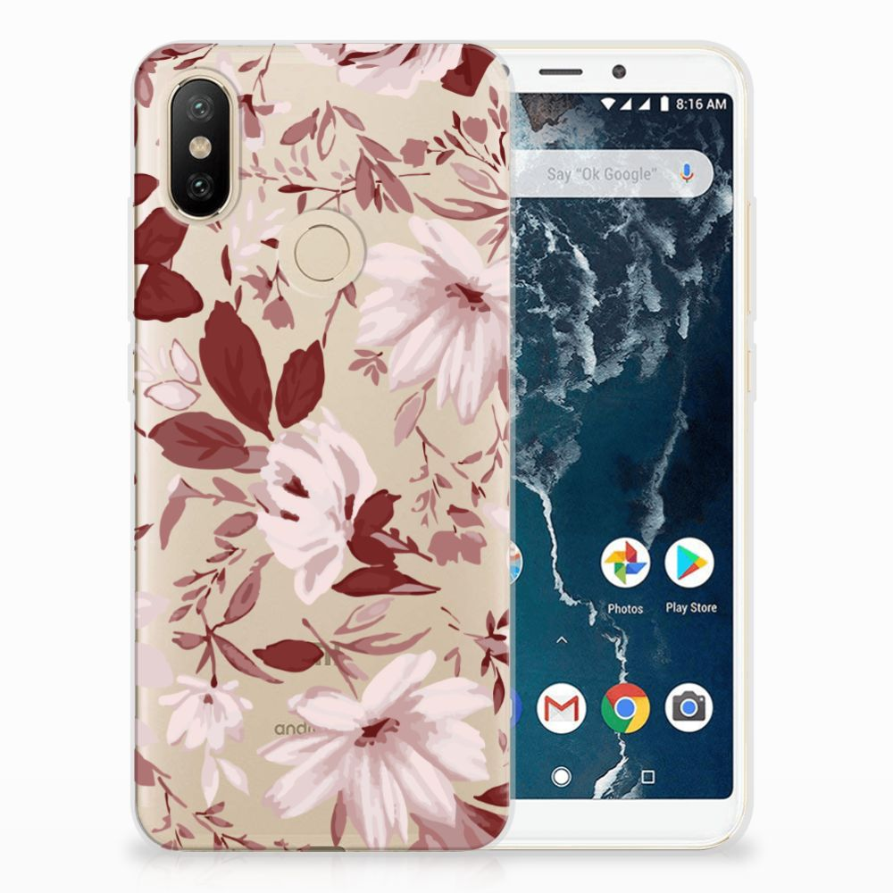 Hoesje maken Xiaomi Mi A2 Watercolor Flowers