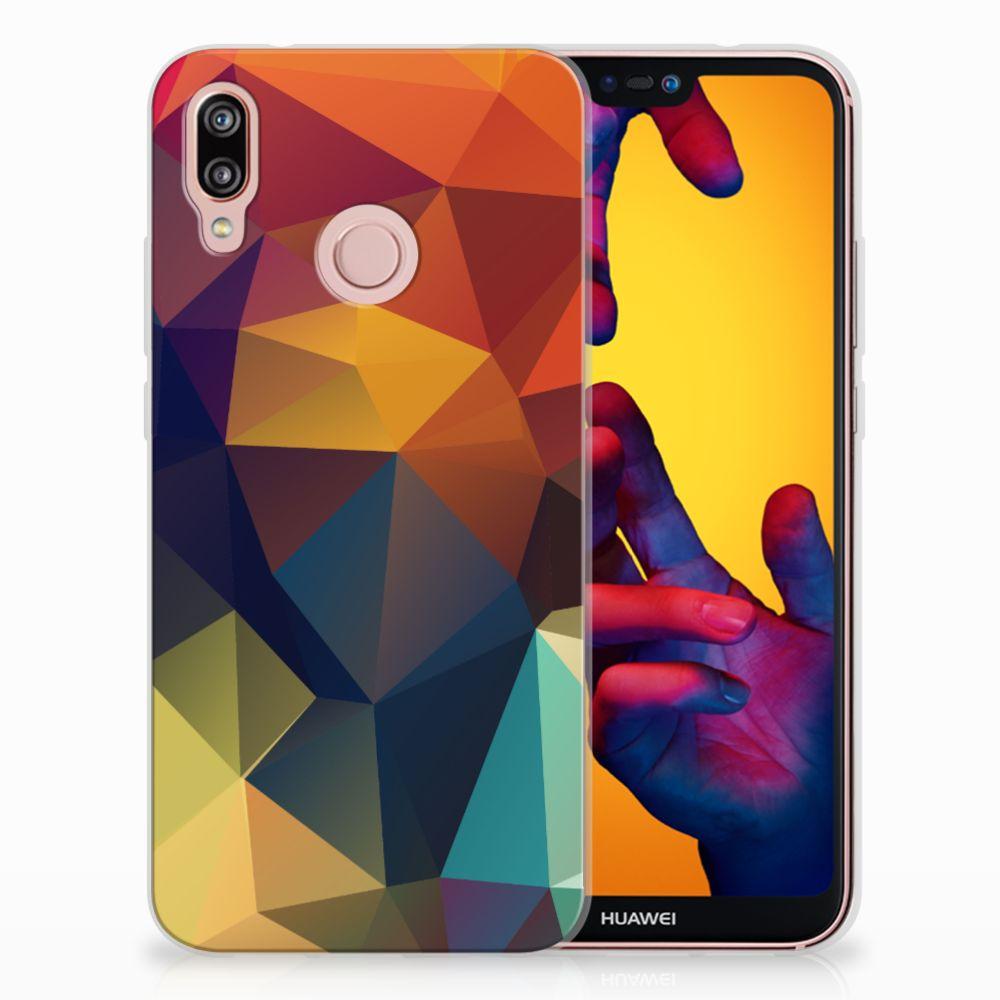 Huawei P20 Lite TPU Hoesje Polygon Color
