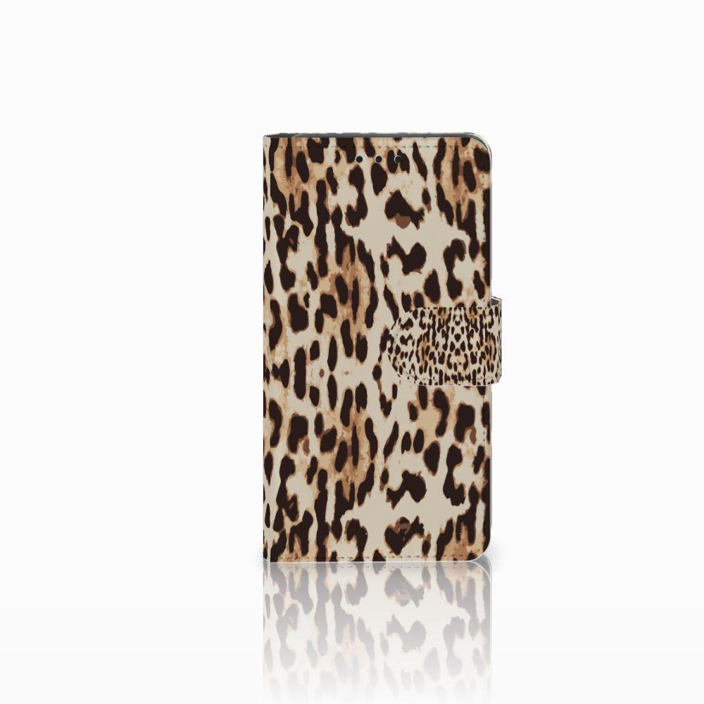 Huawei Y6 Pro 2017 Uniek Boekhoesje Leopard