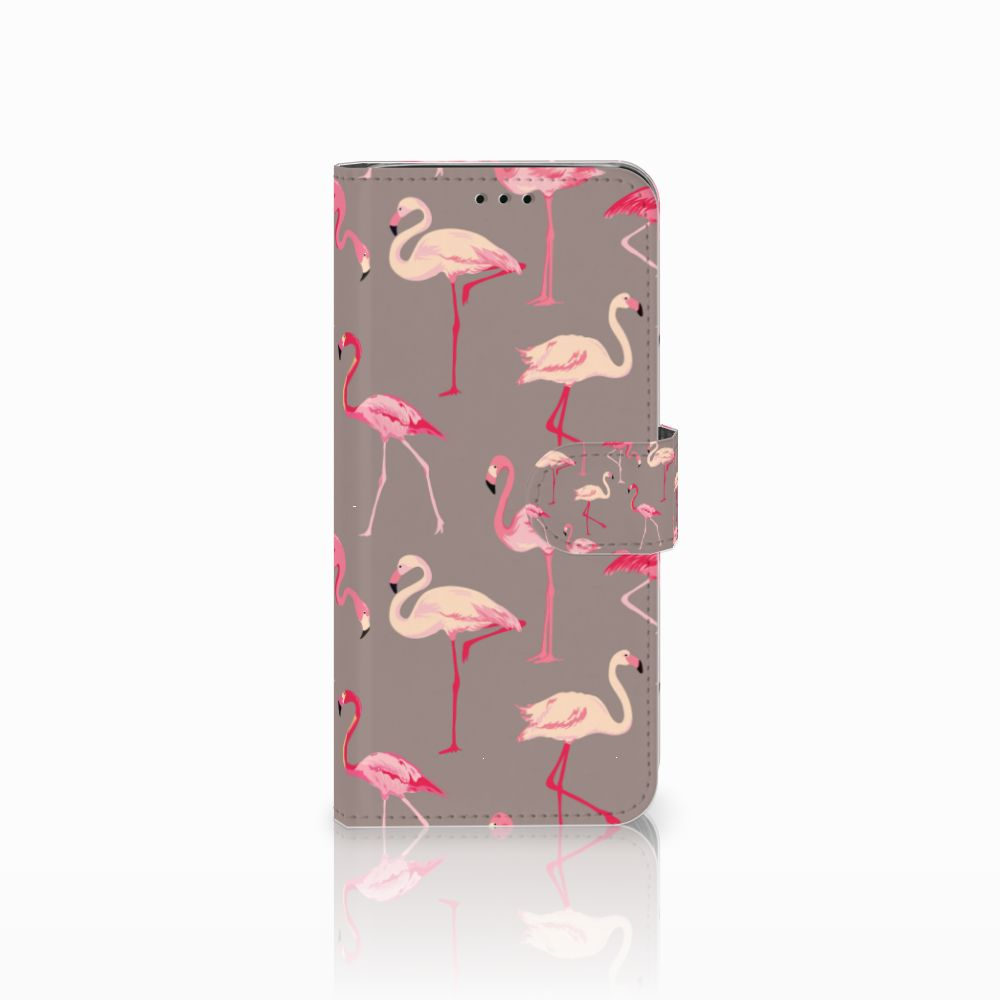Samsung Galaxy J6 2018 Uniek Boekhoesje Flamingo
