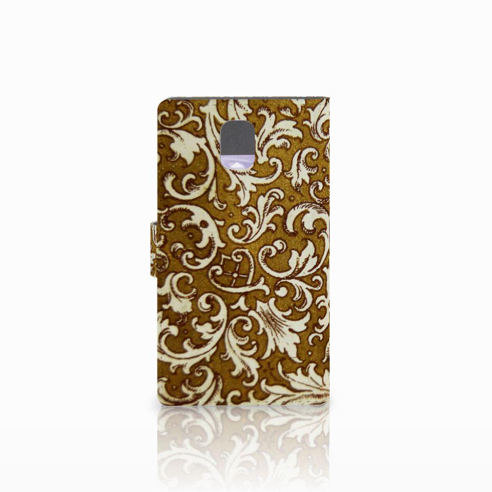 Wallet Case Samsung Galaxy Note 3 Barok Goud