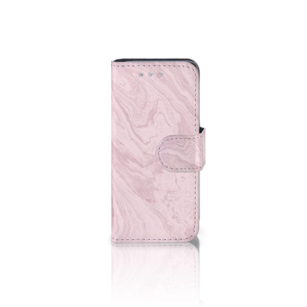 Samsung Galaxy S4 Mini i9190 Boekhoesje Marble Pink