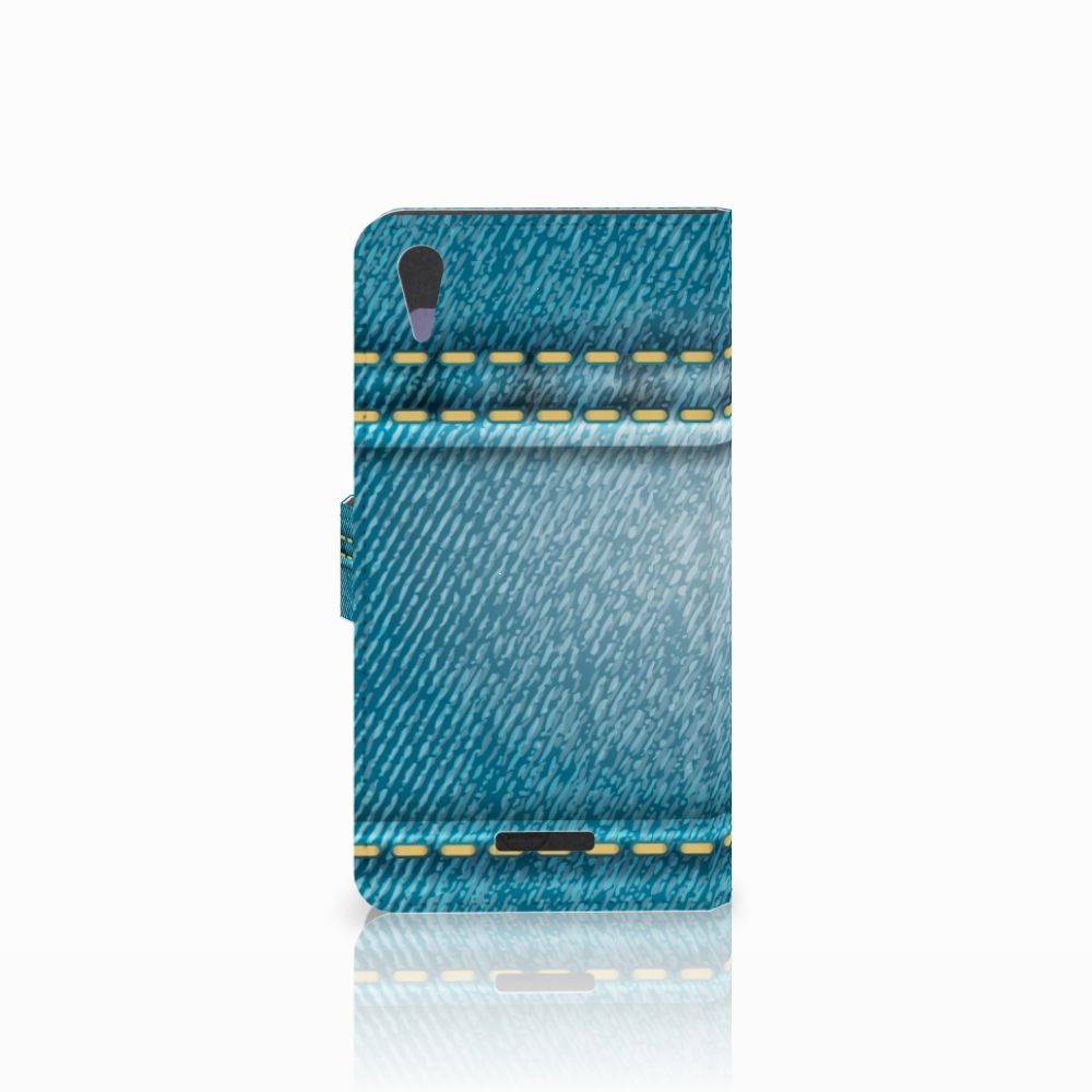 Sony Xperia T3 Wallet Case met Pasjes Jeans