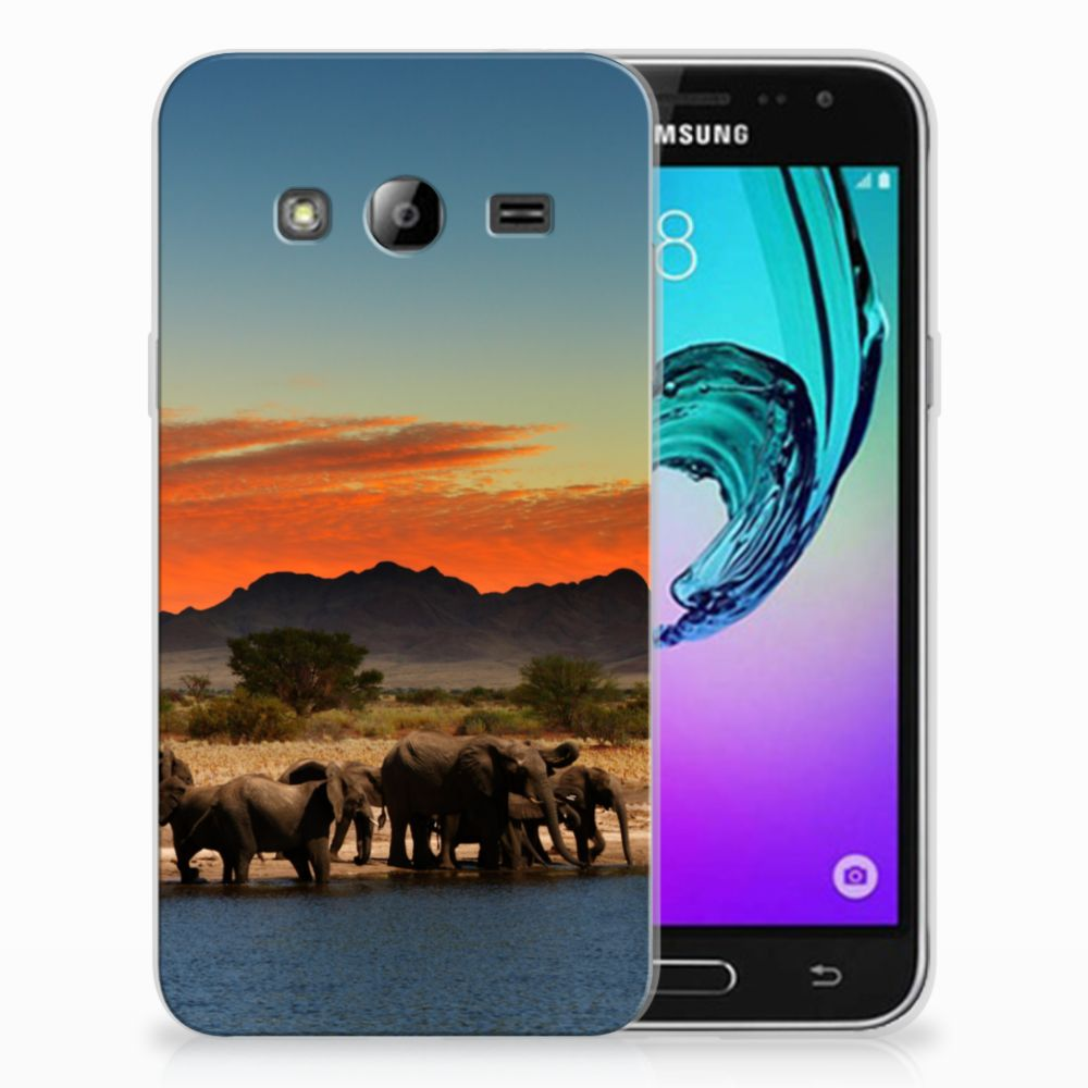 Samsung Galaxy J3 2016 TPU Hoesje Olifanten