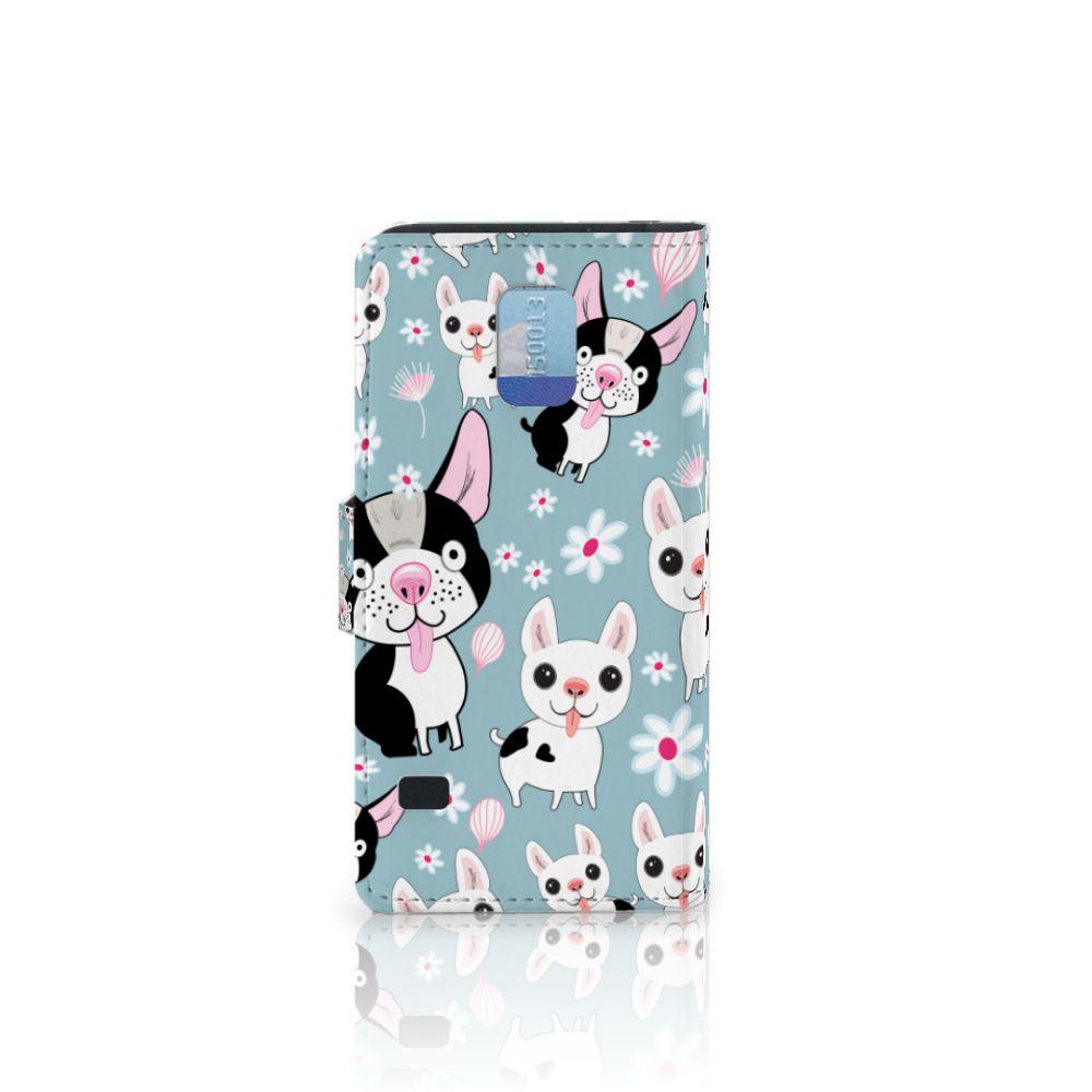 Samsung Galaxy S5 | S5 Neo Telefoonhoesje met Pasjes Hondjes