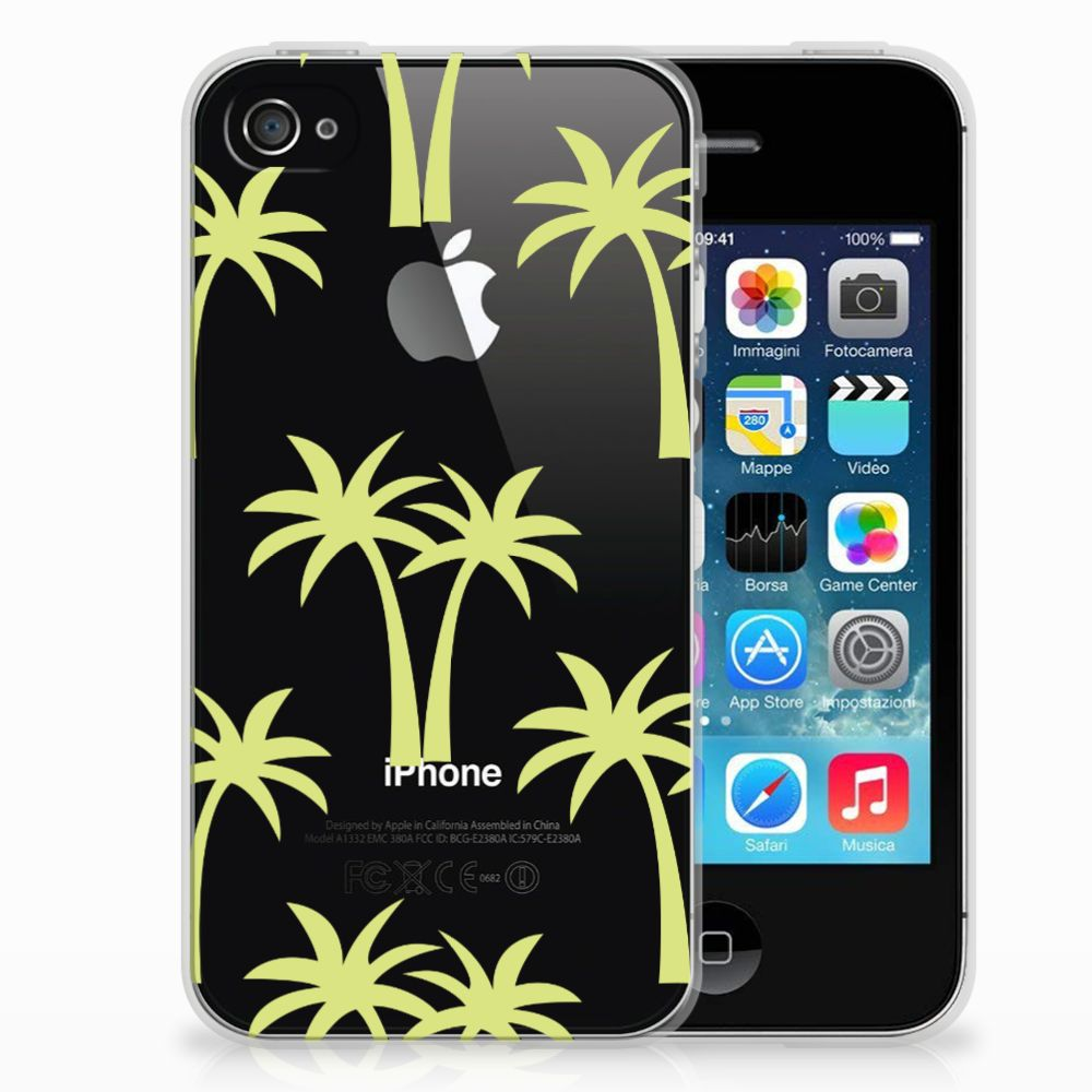 Apple iPhone 4 | 4s Uniek TPU Hoesje Palmtrees