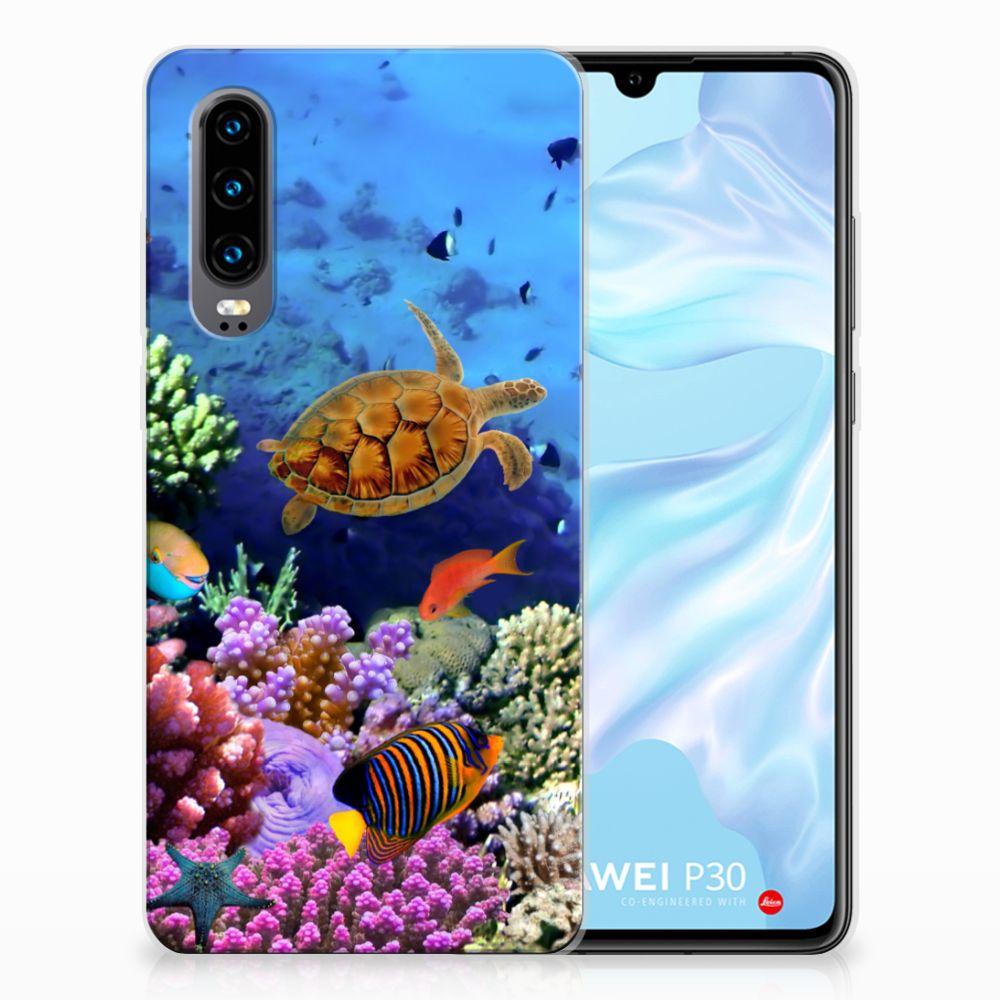 Huawei P30 TPU Hoesje Design Vissen