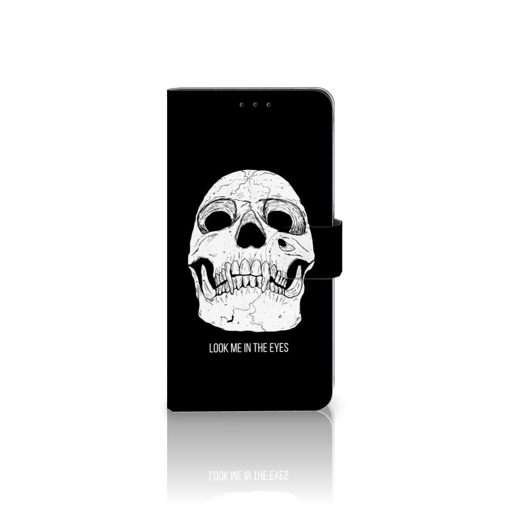 Samsung Galaxy A8 Plus (2018) Uniek Boekhoesje Skull Eyes