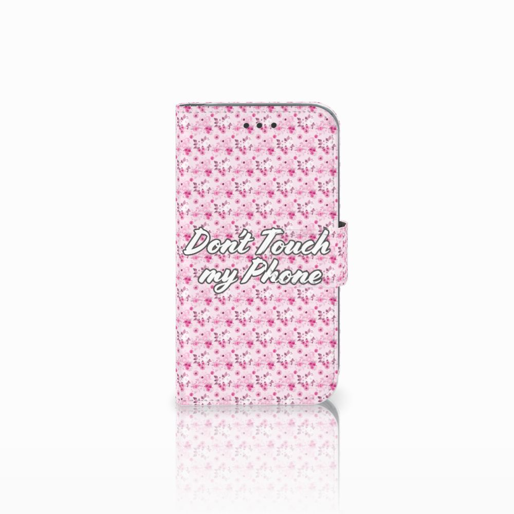 Samsung Galaxy Core Prime Uniek Boekhoesje Flowers Pink DTMP