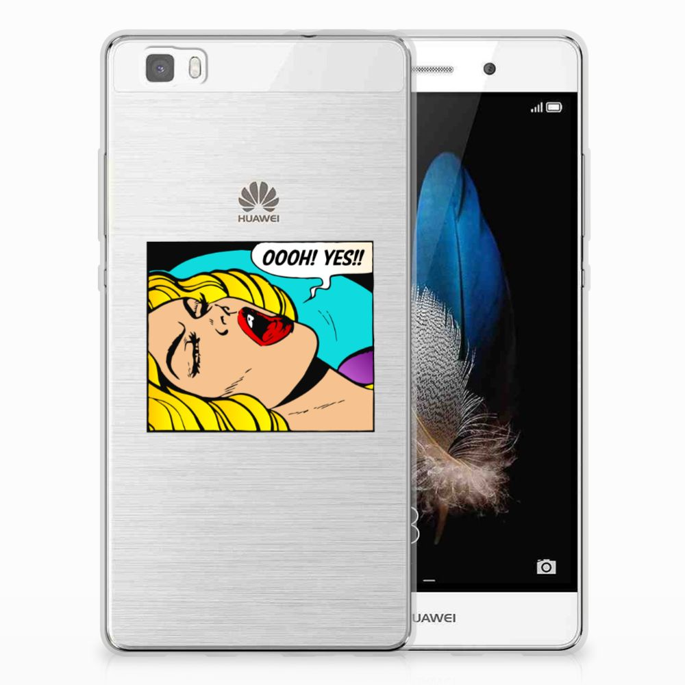Huawei Ascend P8 Lite Silicone Back Cover Popart Oh Yes