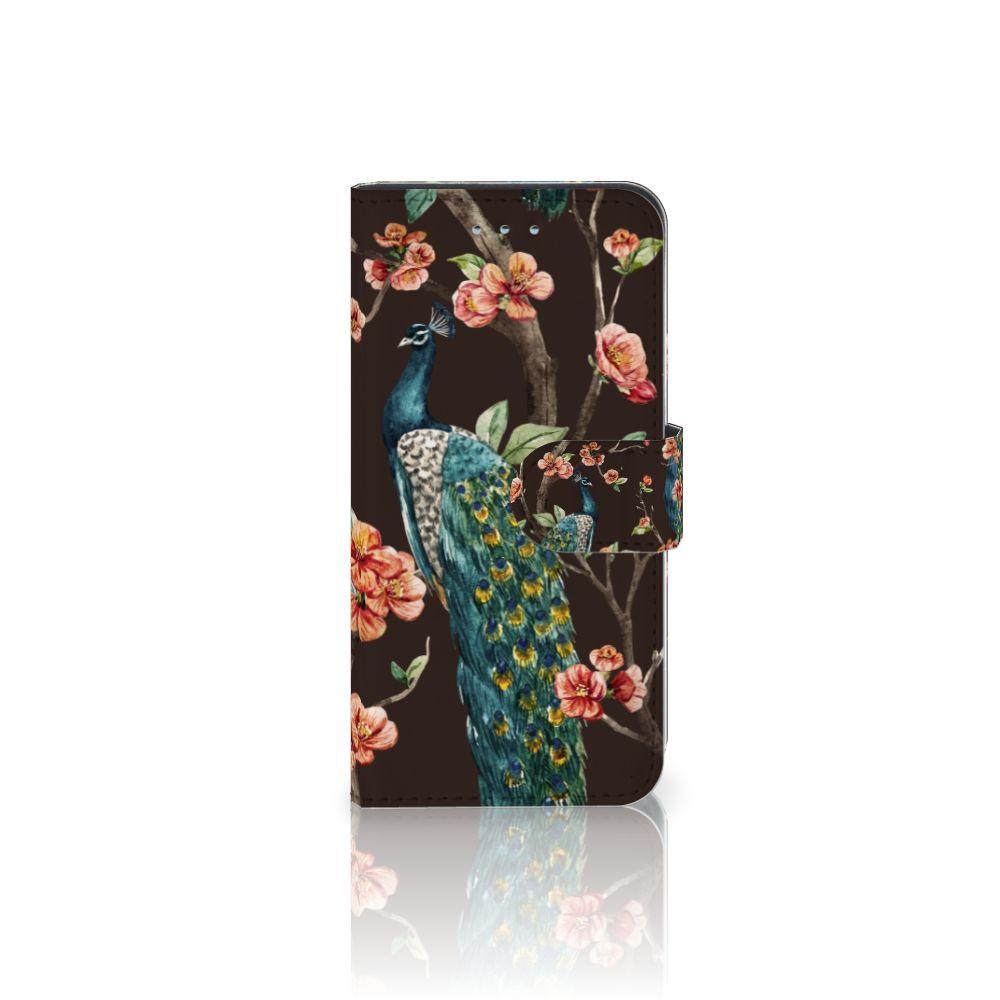 Samsung Galaxy S6 | S6 Duos Boekhoesje Design Pauw met Bloemen
