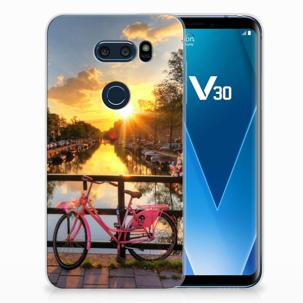 LG V30 Uniek TPU Hoesje Amsterdamse Grachten