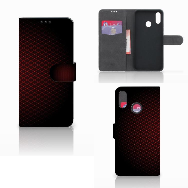 Huawei P Smart Plus Telefoon Hoesje Geruit Rood