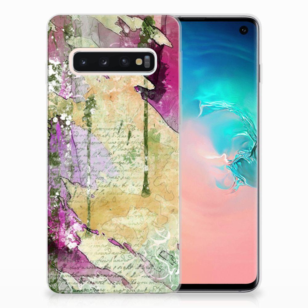 Samsung Galaxy S10 Uniek TPU Hoesje Letter Painting