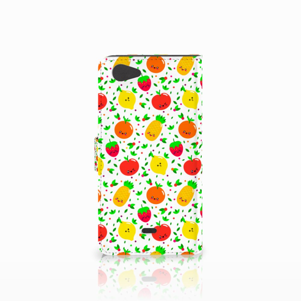 Wiko Pulp Fab 4G Book Cover Fruits