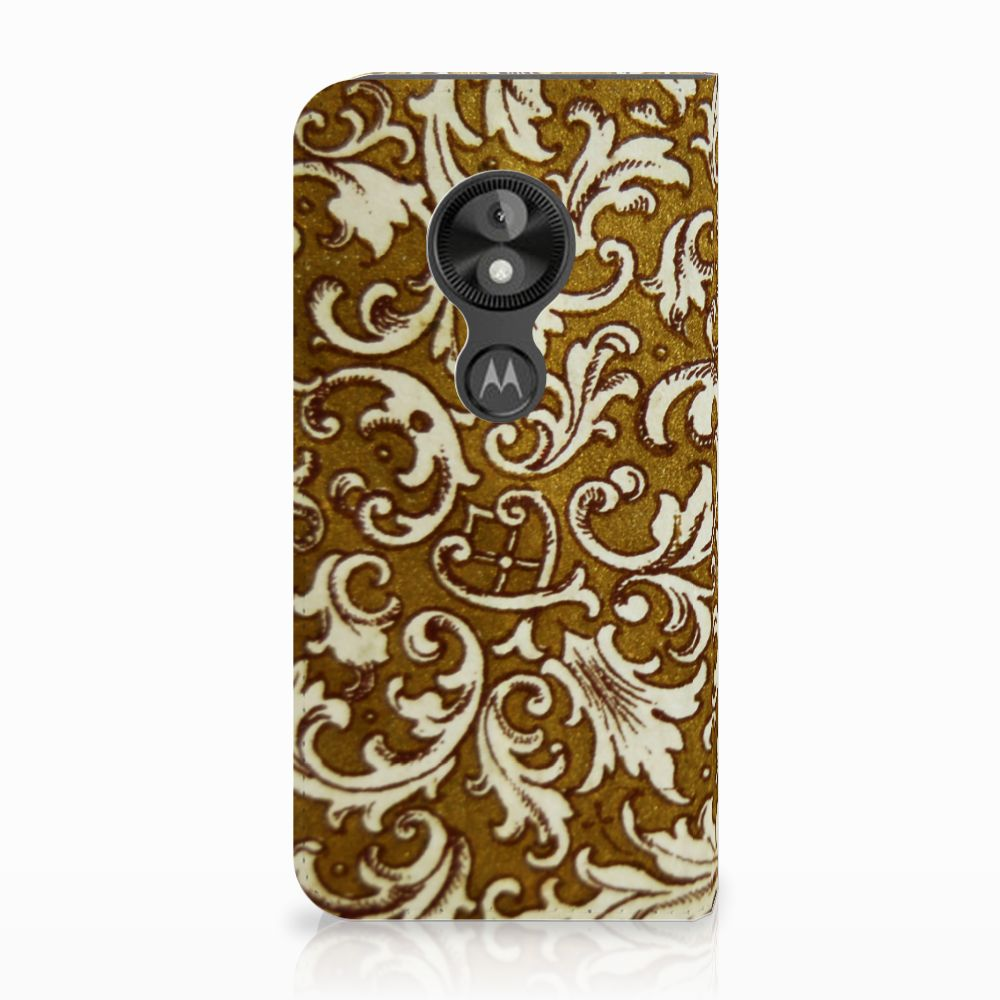 Motorola Moto E5 Play Standcase Hoesje Design Barok Goud