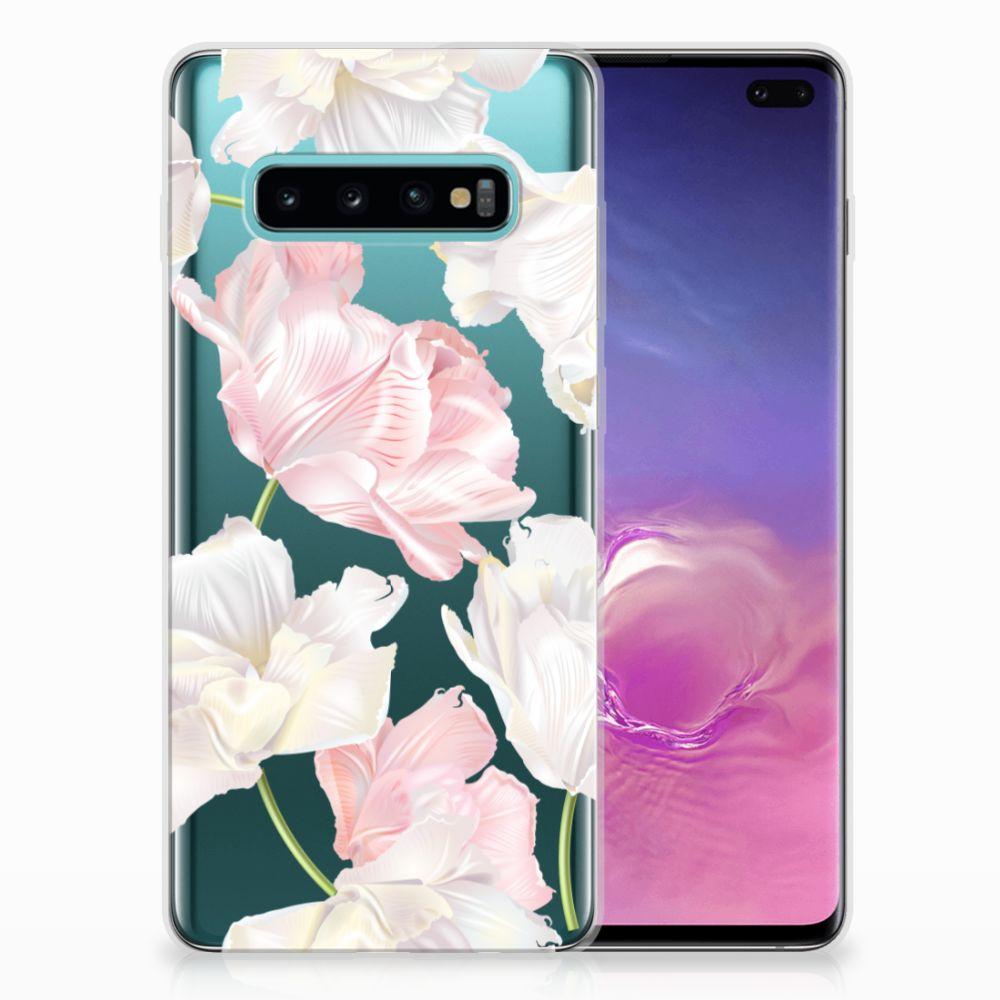 Samsung Galaxy S10 Plus TPU Hoesje Design Lovely Flowers