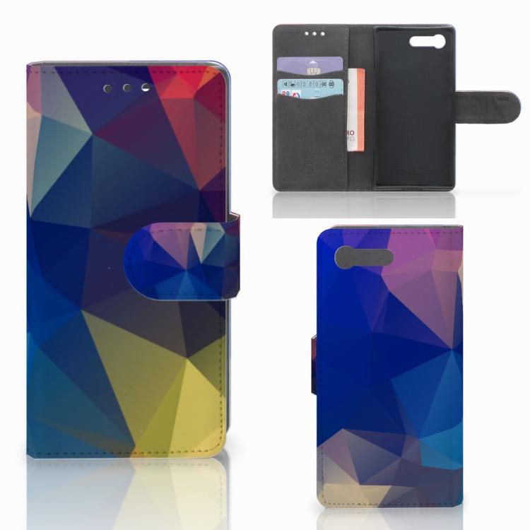 Sony Xperia X Compact Bookcase Polygon Dark